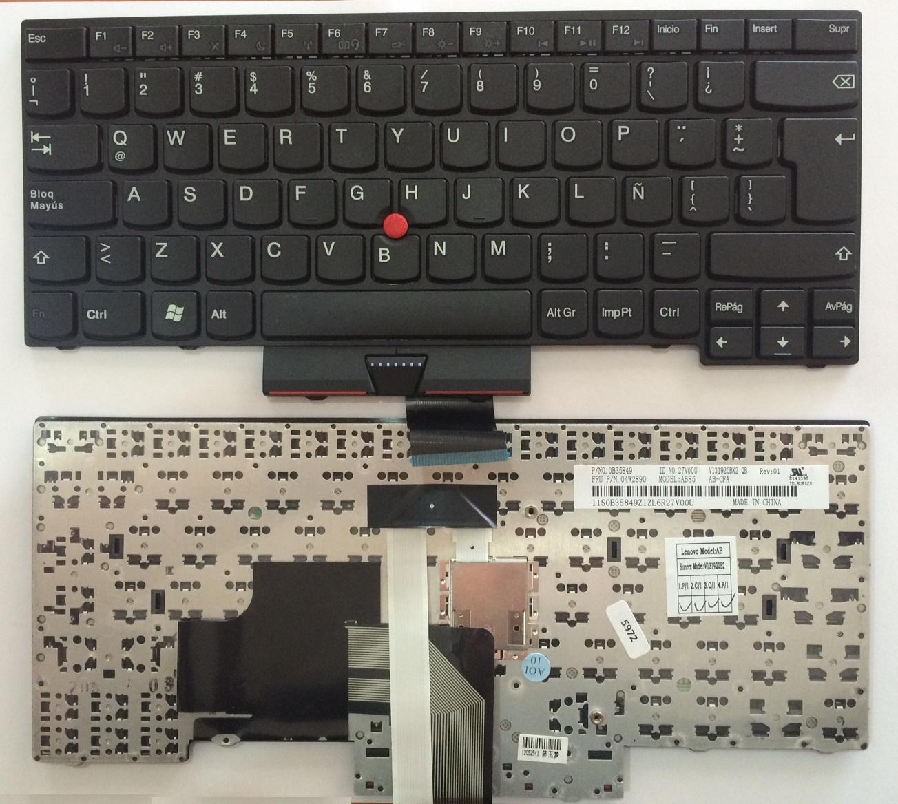 Teclado Español Lenovo Thinkpad Edge E330 Thinkpad Edge E430/ E430C Thinkpad Edge E335 Thinkpad Edge E445 ThinkPad Edge E530 ThinkPad Edge E535 (04Y0193)